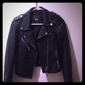 Women's black leather jacket from Kerin's closet